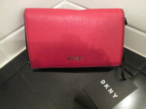 DKNY red wallet, purse, coins, leather, multi slots, BNWT