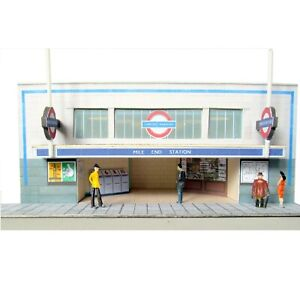 Kingsway, 00 scale, Mile End Underground Station,  ** ready made **