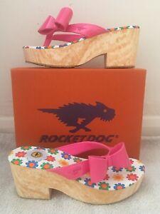 Brand New Rocketdog Tommie Liquid Patent Passion Pink Sandals Size 7 RRP £30