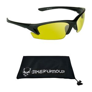 Yellow Lens Glasses Night Vision HD Safety Rated Target Shooting Cycling Driving