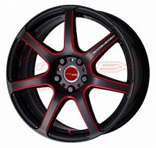 WORK EMOTION T7R 16inch 6.5J +48[30] 4x100 Kurenai - Black With Red Line (BRM)