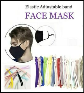 Wholesale 100pcs Mixed Color DIY Mask Sewing Elastic Band Whit Adjustable Buckle
