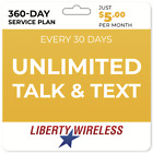 $5/Mo Liberty Wireless Phone Plan: Unlimited Talk & Unlimited Text Yearly