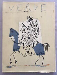 Picasso Verve revue artistique et littéraire Vol. VII N°25-26. 1951