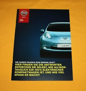 Nissan Leaf 2012 Prospekt Brochure Catalog Depliant Folder Prospetto Broschyr