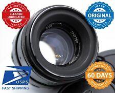 US Seller Helios 44-2 58mm f2 Rusian Bokeh portrait Lens Canon SLR M42 Mount Old