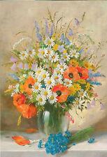"""Zabehlicky Alois """"Bouquet der Sommerblumen"""" Russische moderne seltene Neue Postkarte"""