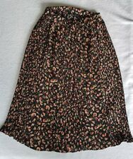 Zara Pleated Mid Length Skirt Size 10