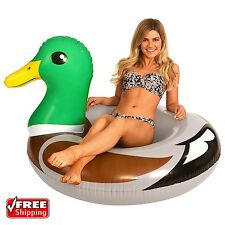 """Giant 50"""" Inflatable Duck Pool Inner Ring Float Swim Tube Seat Fun Party Toy Kid"""