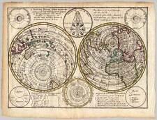 Weltkarte-World-Map - Kupfer-Karte J. Keizer - Jan de Lat 1747
