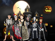 Kids Halloween Boys Girls Skeleton Costume Fancy Dress Jumpsuit children Cosplay