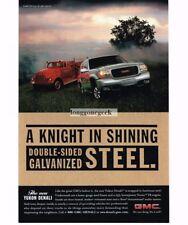 1998 GMC Yukon DENALI Pewter Gray and Vintage Fire Engine Vtg Print Ad