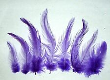 """DK LILAC PURPLE Rooster Hackle Feathers 2-6"""" Dyed Loose 7 gram bag Approx 150 ct"""