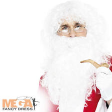Deluxe Santa Claus Wig Beard + Glasses Father Christmas Fancy Dress Costume Kit