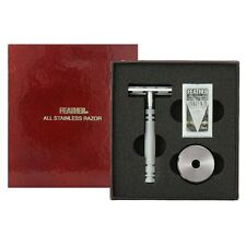 Feather All Stainless Razor (AS-D2S with Stand) NEW BOX [Free USA Shipping]