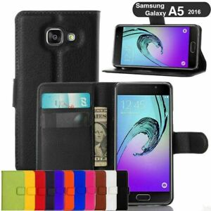 Leather Wallet Book Flip Case Cover Pouch For Samsung Galaxy A3 A5 A6+ A7 A8 A9