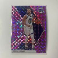 Stephen Curry 2019-20 Panini Mosaic #70 Pink Camo Prizm Golden State Warriors