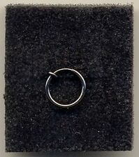 Black Fake Clip On 12mm Ring Non Piercing Body Jewellery Ear/Nose/Lip