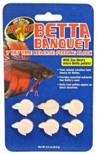 Betta 7 Day Time Release Feeding blocks Vacation Worry free  Zoo Meds