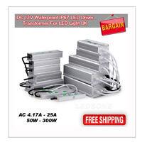 Waterproof IP67 LED Power Supply Transformer DC12V 10W-360W 3 Years Warranty