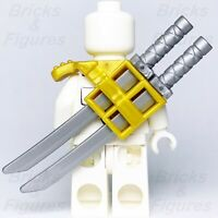 Ninjago LEGO® Gold Ninja Shoulder Pad Scabbard & 2 x Flat Silver Katana Swords
