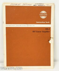 Collins 30L-1 Linear Amplifier Original User Manual