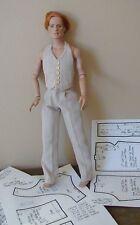 "Pants/Vest Pattern 17MR04 Fits 17"" Tonner Matt, Rufus, Simon, Phin & Andy Dolls"