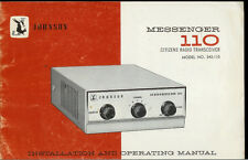 Original Factory Ef Johnson Messenger 110 5 Channel Cb Radio Owner's Manual