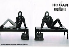 PUBLICITE ADVERTISING 014   2011   HOGAN  BY KARL LAGERFELD  ( 2 pages)