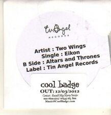(CP225) Two Wings, Eikon - 2012 DJ CD