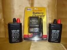 2PK UPG 6VOLT 5AH RECHARGEABLE SEALED 6V 5AMP BATTERY & AC CHARGER W LED LIGHTS