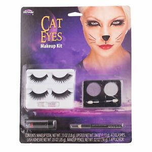Halloween, Cosplay Cat Eyes Stage Makeup Kit - Eyelashes, Eyeshadow #8392
