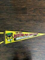 Vintage Felt Flag Pennant Banner Jellystone  Park Camp Resort- Orlando FL 1972