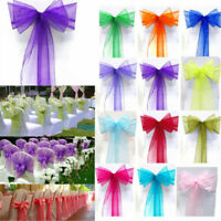 New Charming Organza Bow Wedding Chair Cover Sash Party Banquet Home Decor