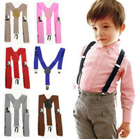USEFUL KIDS BOYS GIRLS Y-BACK SUSPENDER CHILD ELASTIC ADJUSTABLE CLIP-ON BRACES