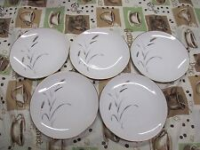 "5 Amway 5748 Porcelain Fine China 6-1/2""  Bread & Butter Snack Plates Gold Leaf"