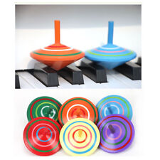 Novelty Wooden Colorful Spinning Top Kids Wood Children's Party Toy