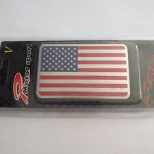 1x Charm 3D US USA American Mini Flag Aluminum Car Sticker Emblem Badge Decal