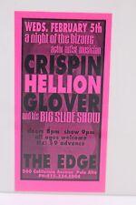 CRISPIN HELLION GLOVER AND HIS BIG SLIDE SHOW THE EDGE FLYER HANDBILL