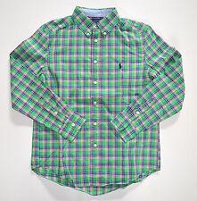 NWT Boys' Polo Ralph Lauren Long-Sleeve Casual Shirt, Blue, M, Medium (10-12)