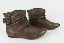 Bottines Boots ANDRE Cuir Marron T 39 TBE