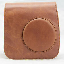 PU Leather Brown Camera Case Bag Holder For FUJIFILM Instax Mini7s Mini7 Elegant