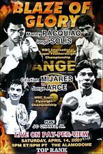 Manny Pacquiao vs. Jorge Solis & Mijares vs. Arce Boxing Fight Poster