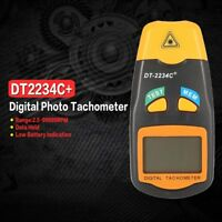 DT2234C+ LCD Digital Mini Non-contact Laser Photo Tachometer RPM Speed Tester FW