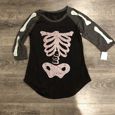 Zoe + Liv Skeleton Womens Top Shirt