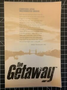 The Getaway PS2 Brochure E3 2002