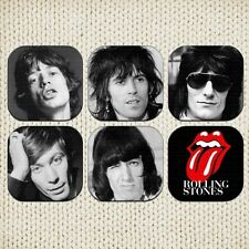 The Roling Stones Coasters Picture Printed Beer Mats Mick Jagger Keith Richards