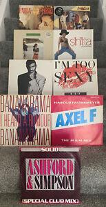 "9 x 12"" Vinyl 12"" Singles Bundle, Job Lot. All In Good Condition + 80s Pop 3524"