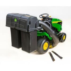 John Deere 42 Inch Twin Bagger Fit 100 Series Tractor Mowers 2 Clean Up Outdoor