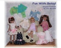 "Fun With Betsy Doll Clothing Patterns  14""  NEW!"